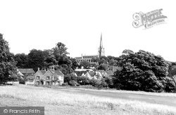 Saffron Walden, St Mary's Church From The Golf Course c.1955