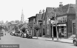Saffron Walden, St Mary's Church From The High Street c.1955