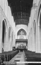 Saffron Walden, St Mary's Church Interior c.1955