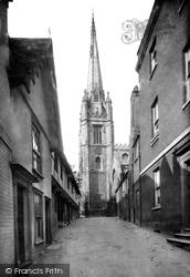 Saffron Walden, St Mary's Church Spire 1912