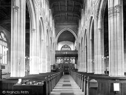 Saffron Walden, St Mary's Church, The Interior 1925