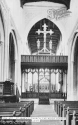 Saffron Walden, St Mary's Church, The Rood Screen c.1955