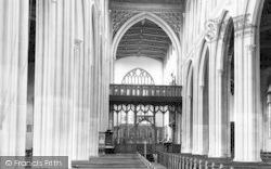 Saffron Walden, St Mary's Parish Church Interior 1937