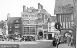 Saffron Walden, The Market Square c.1950
