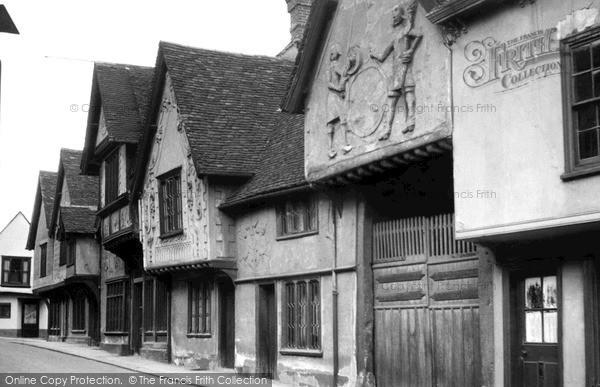Photo of Saffron Walden, the Old Sun Inn c1955, ref. s43040