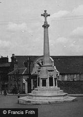 Saffron Walden, the War Memorial c1955