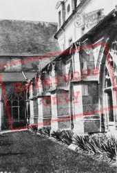 Fontenelle Abbey, Cloister Buttresses Detail c.1930, Saint-Wandrille-Rançon