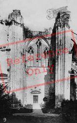 Fontenelle Abbey, Nave, North Side c.1930, Saint-Wandrille-Rançon