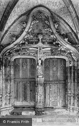 Fontenelle Abbey, Refectory Door c.1930, Saint-Wandrille-Rançon