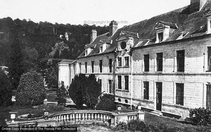 Photo of Saint Wandrille Rançon, Fontenelle Abbey, West Building Façade c.1930