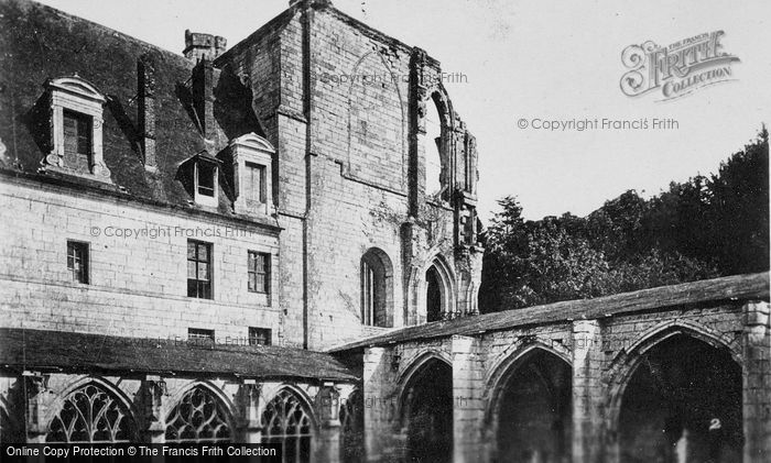 Photo of Saint Wandrille Rançon, Fontnelle Abbey, Cloisters And Pavillon De La Grâce c.1930