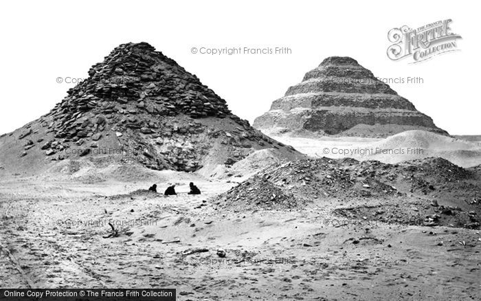 Photo of Sakkarah, Pyramids From The North East 1858