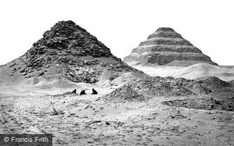 Sakkarah, Pyramids from the North East 1858