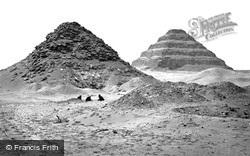 Sakkarah, Pyramids From The North East 1858
