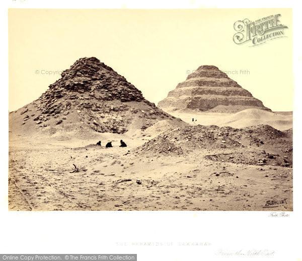 Photo of Sakkarah, The Pyramids 1858