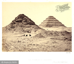 Sakkarah, The Pyramids 1858