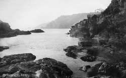 Salcombe, Bolt Head From The Cove 1890