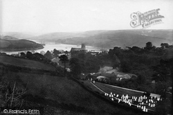 Salcombe, From The Cemetery 1890