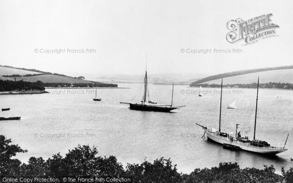 Photo of Salcombe, In The Harbour 1896