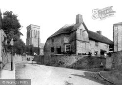 Salcombe, Old House And Holy Trinity Church 1890