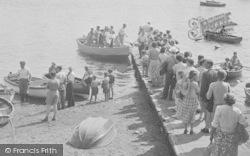 Salcombe, People Queuing c.1951