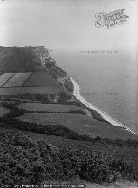 Salcombe Regis, the Cliffs 1934