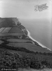 Salcombe Regis, The Cliffs 1934