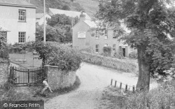 Salcombe Regis, The Rainbow Tea Gardens And Post Office 1928
