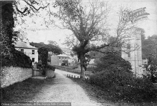 Salcombe Regis, the Village and Church 1906