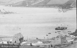 Salcombe, South Sands, Life Boat Station And Bay 1896