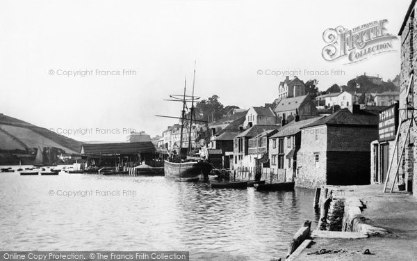 Photo of Salcombe, the Quayside 1896