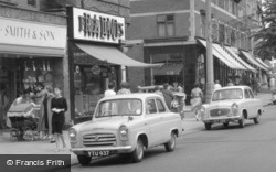 Sale, Ford Anglia And Prefect Cars, School Road 1961