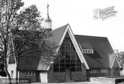 Salfords, Christ The King Church c.1965