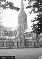 Salisbury, Cathedral c.1950