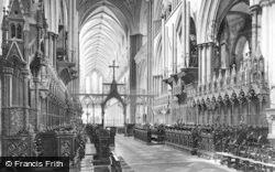 Salisbury, Cathedral, Choir West 1919