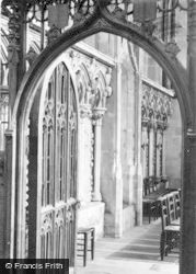 Salisbury, Cathedral, Entrance To Morning Chapel Showing Old Rood Screen 1914