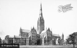 Salisbury, Cathedral, From The North East c.1872