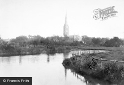 Salisbury, Cathedral From The River 1887