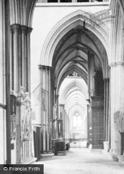 Salisbury, Cathedral, South Choir Aisle, West 1914