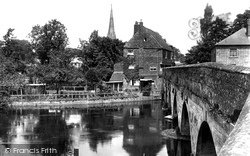 Salisbury, Harnham Bridge 1928