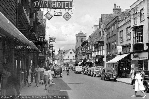 Photo of Salisbury, High Street c.1950