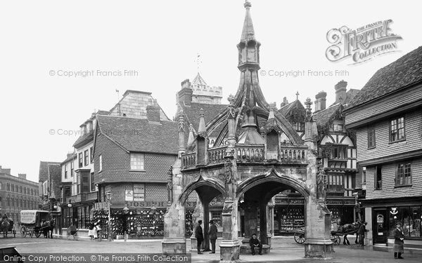 Photo of Salisbury, Poultry Cross And Silver Street 1906