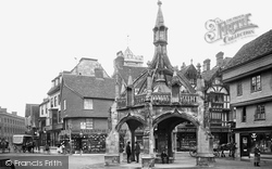 Salisbury, Poultry Cross And Silver Street 1906