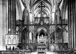 Salisbury, The Cathedral, Choir Screen 1887