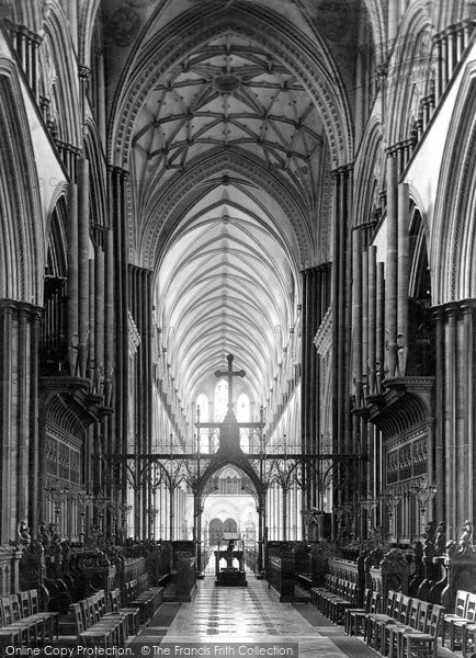 Salisbury, The Cathedral, Choir West 1887