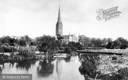 Salisbury, The Cathedral From The River Avon 1887