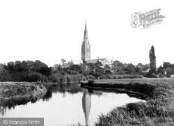 Salisbury, The Cathedral From The River Avon c.1862