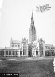 Salisbury, The Cathedral, North East 1887