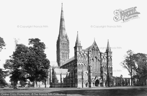 Photo of Salisbury, The Cathedral, North West 1887