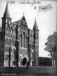 Salisbury, The Cathedral, West Front c.1863